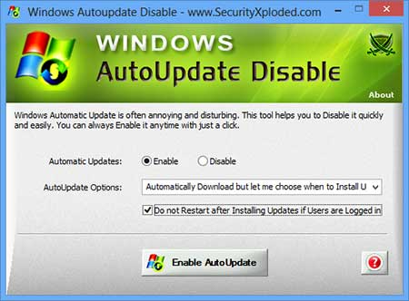 Vorschau Disable Windows AutoUpdate - Bild 1