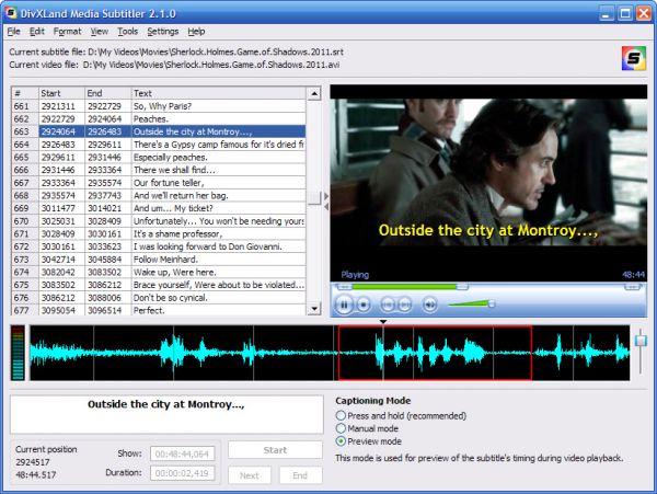 Vorschau DivXLand Media Subtitler - Bild 1