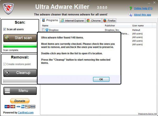 Vorschau Ultra Adware Killer - Bild 1
