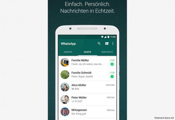 Vorschau WhatsApp Messenger for Android - Bild 1