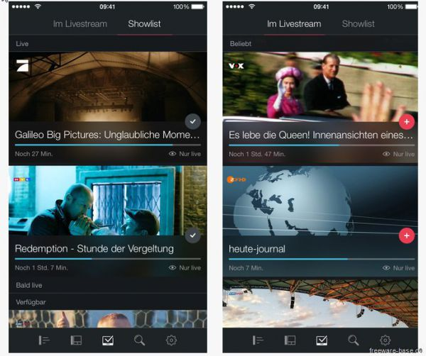 Vorschau Magine TV for iPhone und iPad - Bild 1