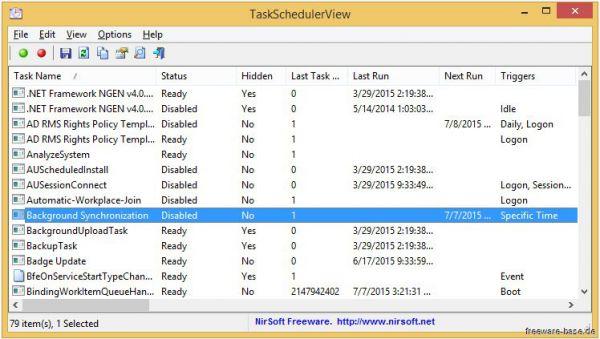 Vorschau TaskSchedulerView - Bild 1