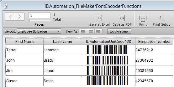 Vorschau FileMaker Pro Barcode Custom Functions - Bild 1