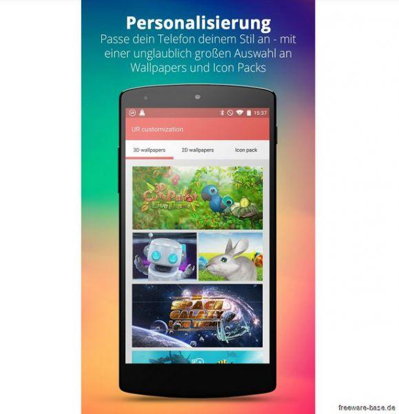 Vorschau UR 3D Launcher fuer Android - Bild 1