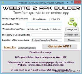 Vorschau Website 2 APK Builder - Bild 1