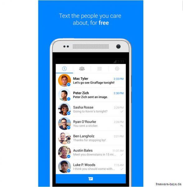 Vorschau Facebook Messenger für Android - Bild 1