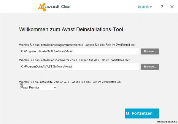Vorschau Avast Clear - AVAST Software Uninstall Utility - Bild 1