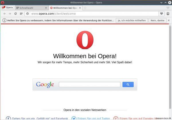 Vorschau Opera für Linux - Bild 1