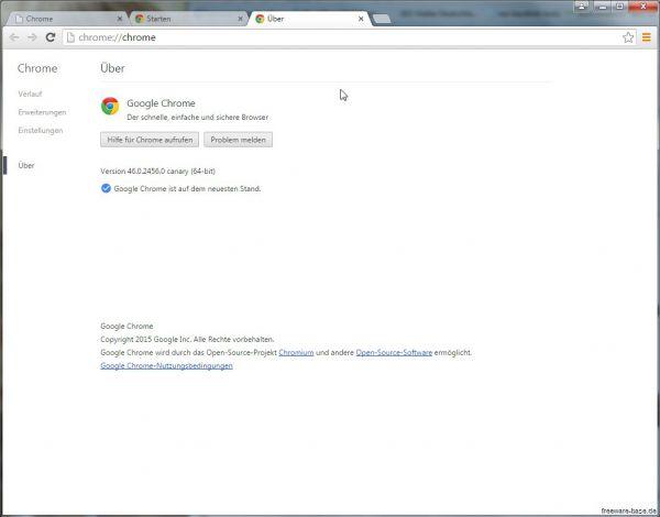 Vorschau Google Chrome Canary - Bild 1