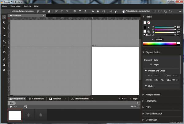 Vorschau Google Web Designer - Bild 1