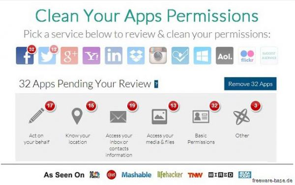 Vorschau MyPermissions Cleaner für Chrome - Bild 1
