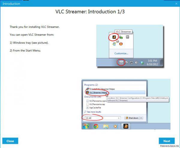 Vorschau VLC Streamer Helper - Bild 1