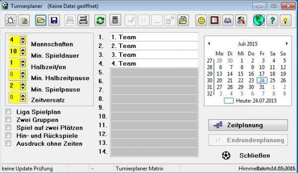 Vorschau Turnierplaner - Bild 1