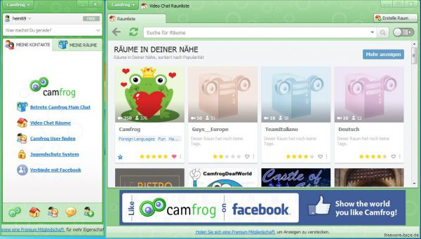 Vorschau Camfrog Video Chat Software - Bild 1