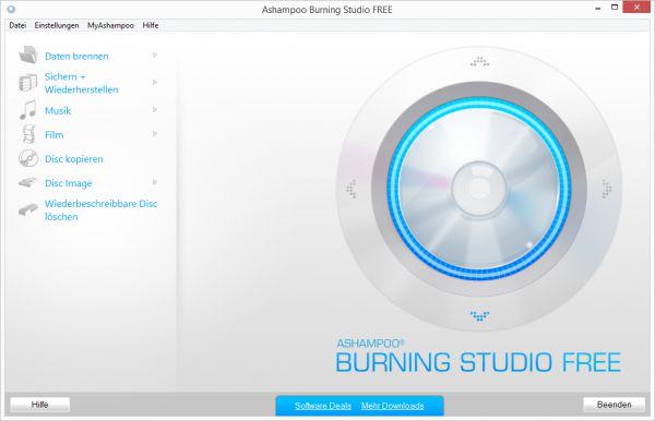 Vorschau Ashampoo Burning Studio FREE - Bild 1