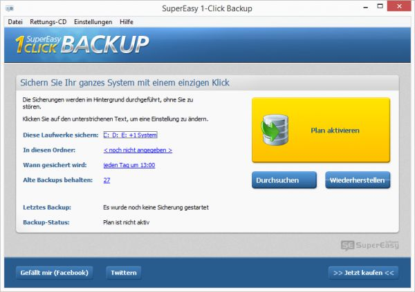 Vorschau SuperEasy 1-Click Backup - Bild 1