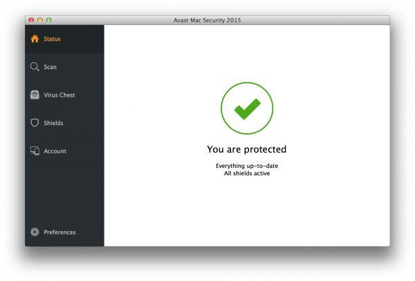 Vorschau Avast Free Mac Security - Bild 1