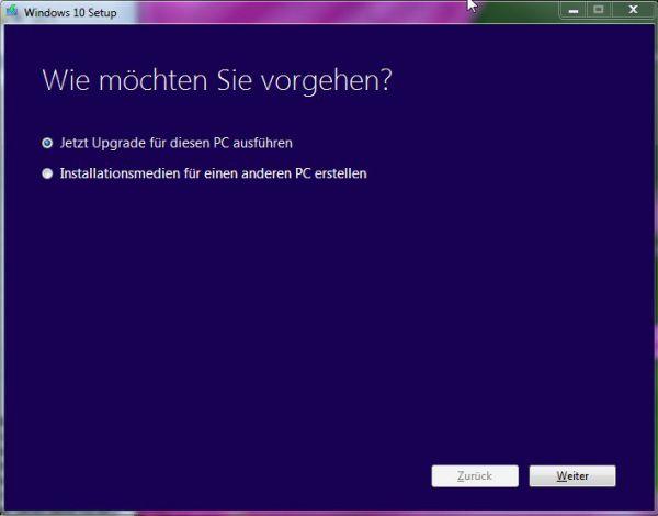 Vorschau Media Creation Tool für Windows 10 - Bild 1