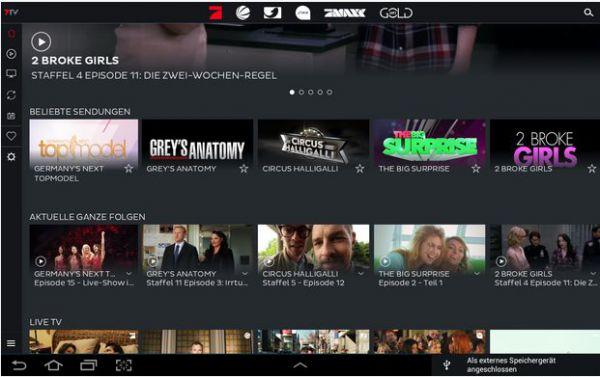 Vorschau 7TV - Mediatheken - TV Livestream für Android - Bild 1