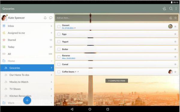 Vorschau Wunderlist für Android und iPhone iPad  - Bild 1