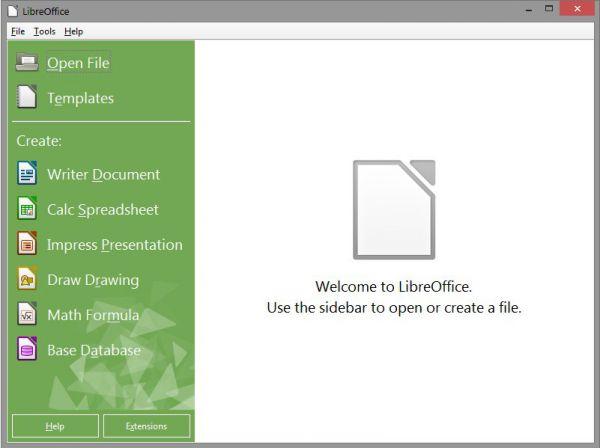Vorschau LibreOffice Portable - Bild 1