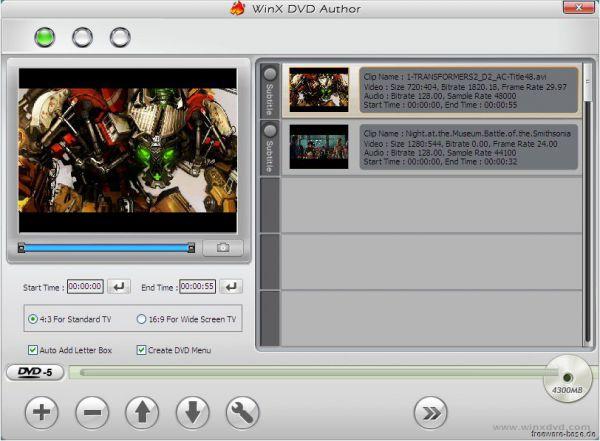 Vorschau WinX DVD Author - Bild 1