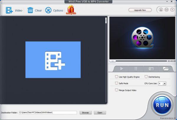 Vorschau WinX Free VOB to MP4 Converter - Bild 1