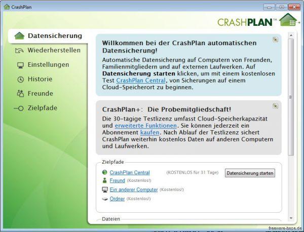 Vorschau CrashPlan - Bild 1