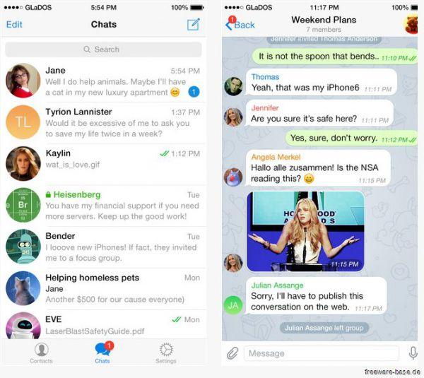 Vorschau Telegram für Android und iPhone - Bild 1
