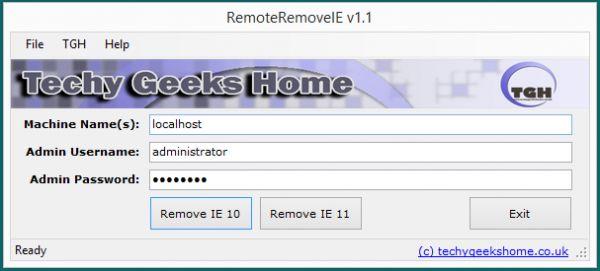 Vorschau RemoteRemoveIE - Bild 1