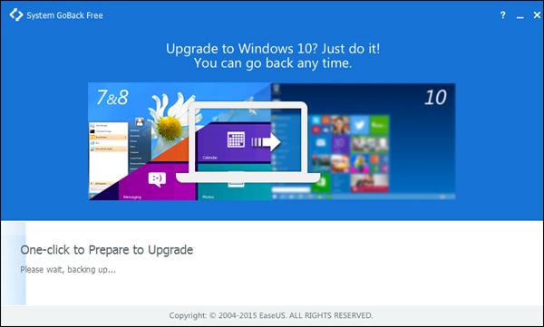 Vorschau EaseUS System GoBack Free - Bild 1