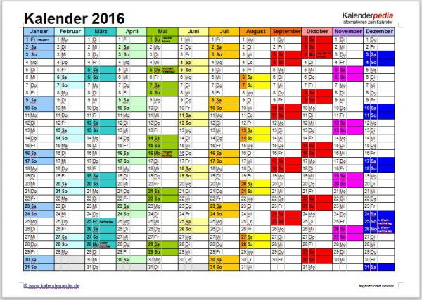Vorschau Word Kalender Paket - Bild 1