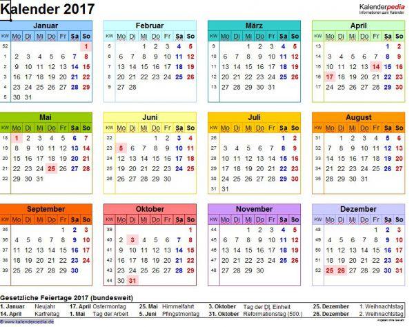Vorschau Excel Kalender Paket - Bild 1