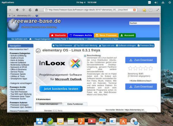 Vorschau elementary OS - Linux - Bild 1