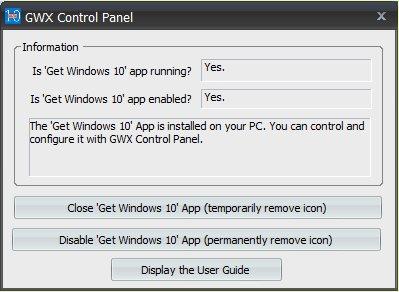 Vorschau GWX Control Panel - GWX Stopper - Bild 1