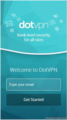 Vorschau DotVPN für Google Chrome - Bild 1