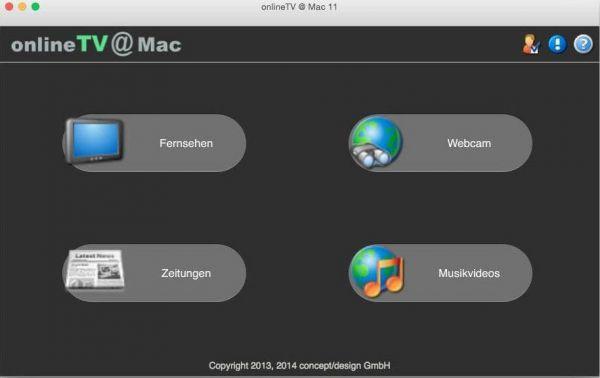 Vorschau onlineTV fuer Mac OS - Bild 1