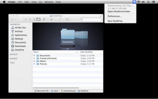 Vorschau Microsoft OneDrive für Mac OS - Bild 1