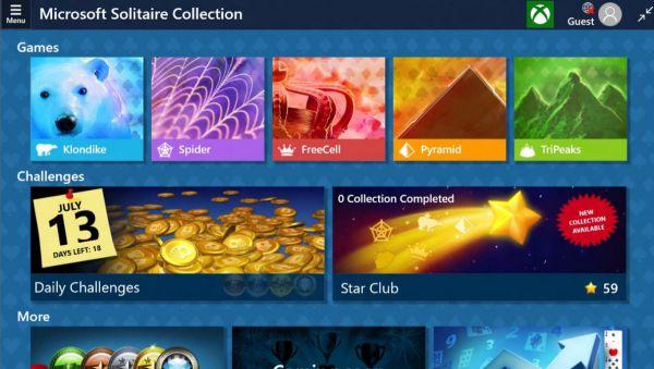 Vorschau Microsoft Solitaire Collection fuer Windows 8 und 10 App - Bild 1