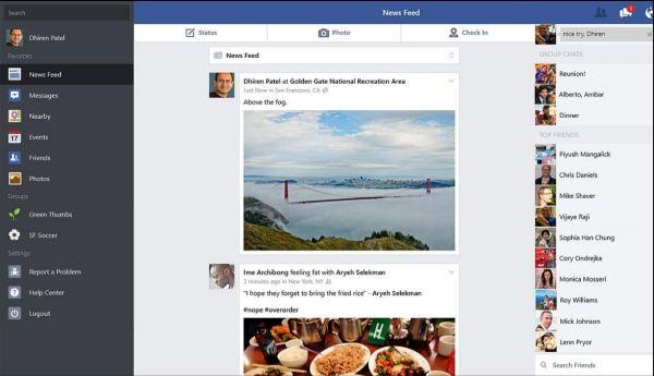 Vorschau Facebook für Windows 8 und 10 App - Bild 1