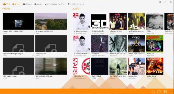 Vorschau VLC Media Player fuer Windows 8 und 10 App - Bild 1