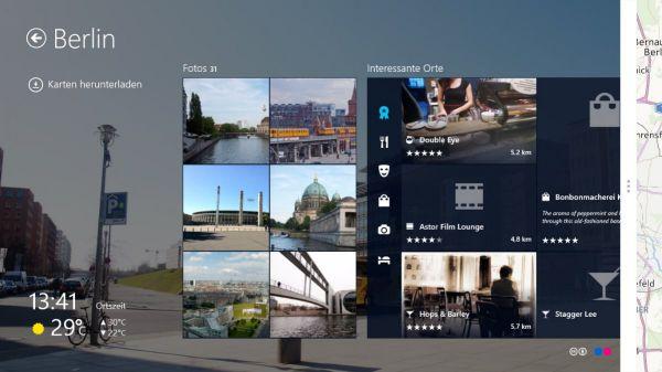 Vorschau Here Maps fuer Windows 8 und 10 - Bild 1