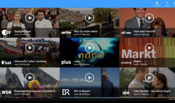 Vorschau TV App Live Fernsehen fuer Windows 8 und 10 App - Bild 1