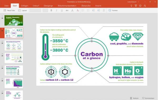 Vorschau PowerPoint Mobile fuer Windows 10 App - Bild 1