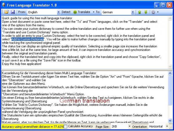 Vorschau Free Language Translator - Bild 1