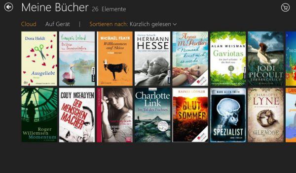Vorschau Kindle fuer Windows 8 und 10 App - Bild 1