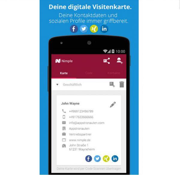 Vorschau Nimple - Networking Simple fuer Android - Bild 1