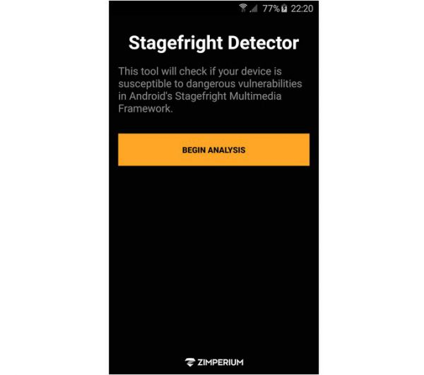 Vorschau Stagefright Detector fuer Android - Bild 1