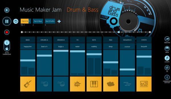Vorschau Magix Music Maker Jam fuer Windows 8 und 10 App - Bild 1