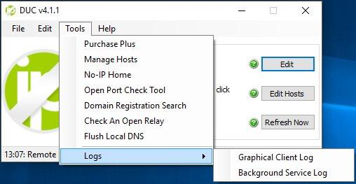 Vorschau No-IP Dynamic DNS Update Client - Bild 1